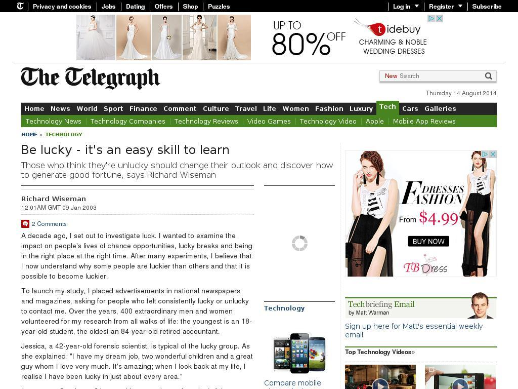 www.telegraph.co.uk/technology/3304496/Be-lucky-its-an-easy-skill-to-learn.htm screenshot